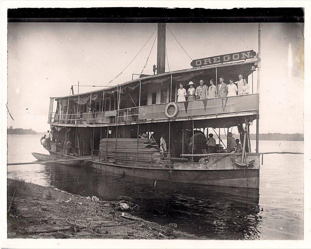 SS Oregon steamship in Belgian Congo, 1928.