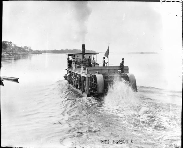 A river boat near Bumba, Belgian Congo, July 29, 1909.