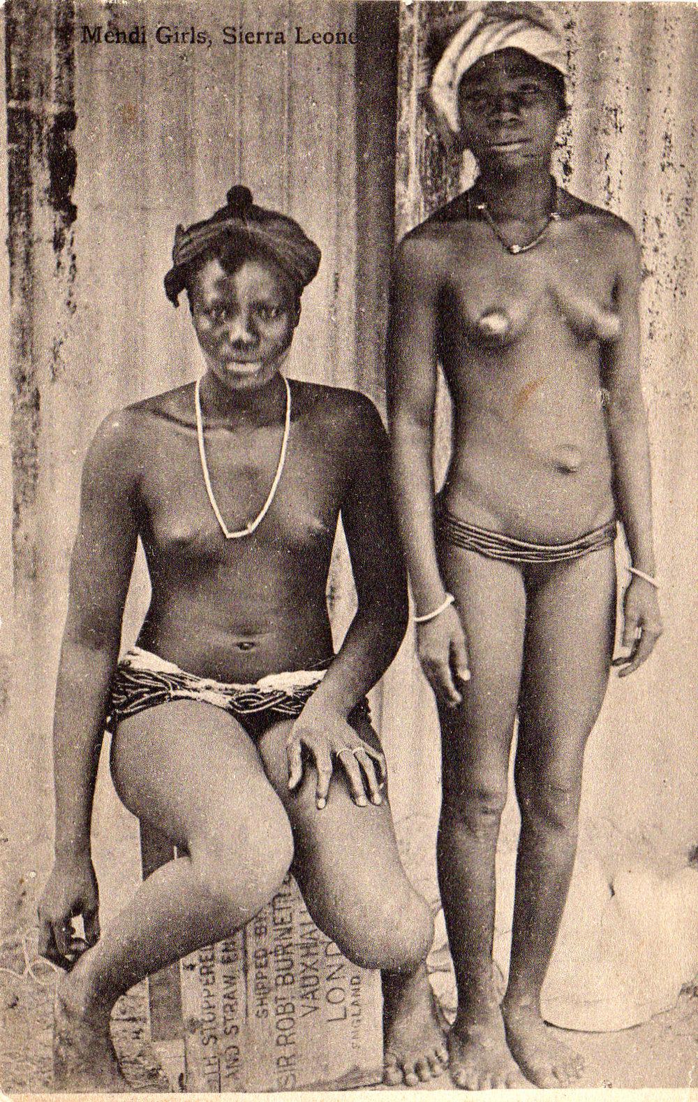Mendi girls in Sierra Leone.
