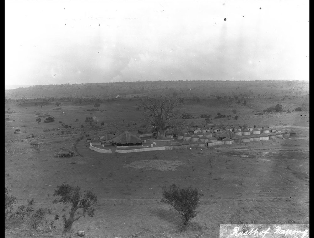 Rest house compound at Dapong, Togo in 1910.