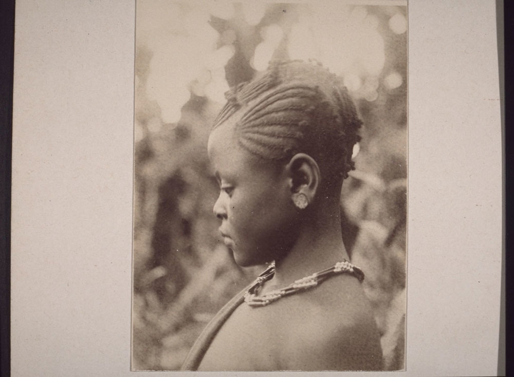 Pombure, daughter of the King's son-in-law. Bamum, Cameroon, 1913.
