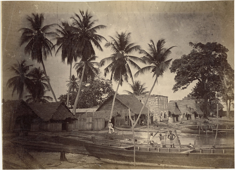 A rare photo of Lagos, Nigeria in the 1880s.