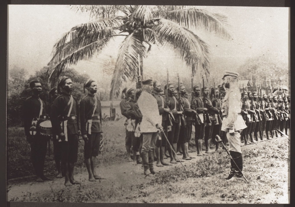 Colonial troops in Togo, 1880s.