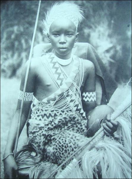 Mwanbutsa, king of the Urundi. Belgian Congo.