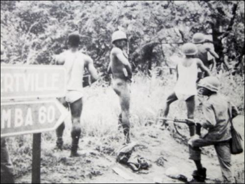 Congolese soldiers during the Katanga Revolt (1960). (Press photo)