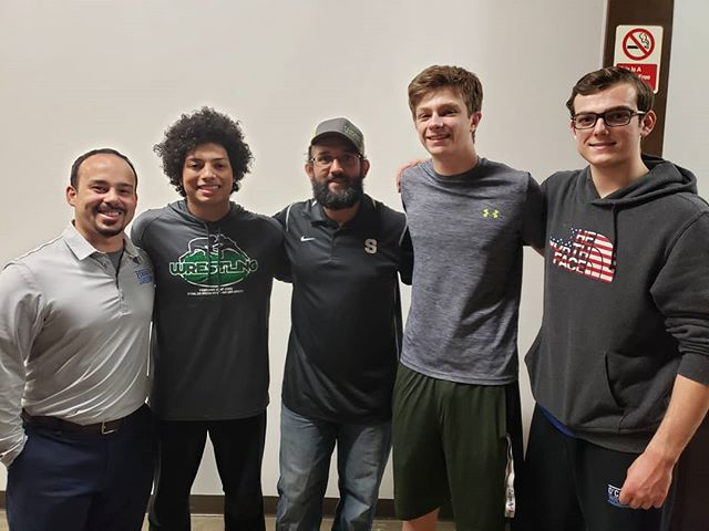 Coach Vergara introduced his high school wrestlers to former UFC fighter and Oklahoma State's 2x NCAA Champion, Johny Hendricks, at National Preps this past weekend. He is coaching in Ft. Worth, Texas for All Saints Episcopal School. It isn't that long of a flight from Texas to the DC area, is it?  #GetKnighted and sign-up today!  www.KnightsWrestlingAcademy.com  #KnightsWrestlingAcademy #KWA #KnightsWrestling #Knights #GoKnights #VAwrestling #VirginiaWrestling #ArlingtonWrestling #ArlingtonVA #Arlington #VA #Virginia #wrestle #wrestler #wrestling #NationalPreps #StudentAthletes #Athletes #Training #Grappling #UFC #MMA #JohnyHendricks #OkieState #OKStateWrestling #OklahomaState #OklahomaStateWrestling