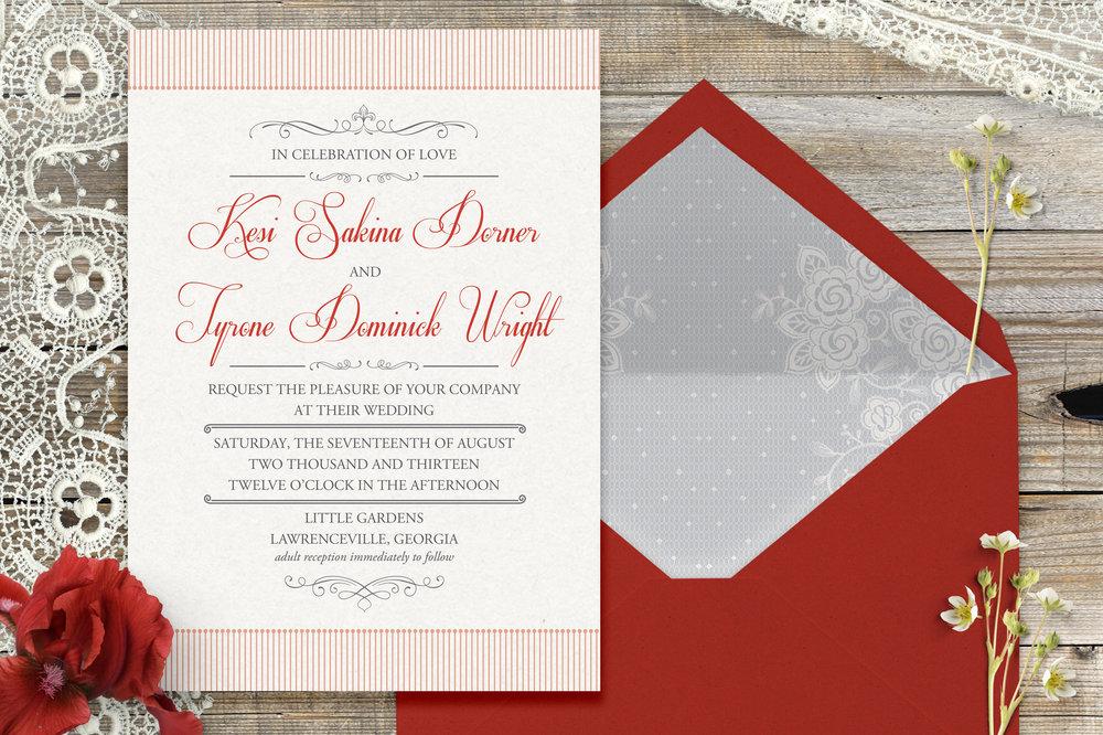 D+W Wedding Invitation Suite