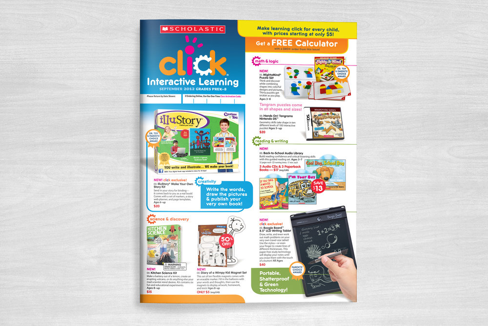 Scholastic Click! Club News Flyer