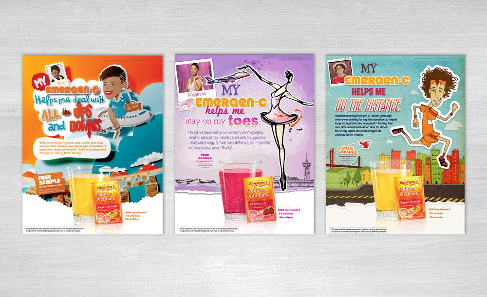 Emergen-C Print Ad Campaign