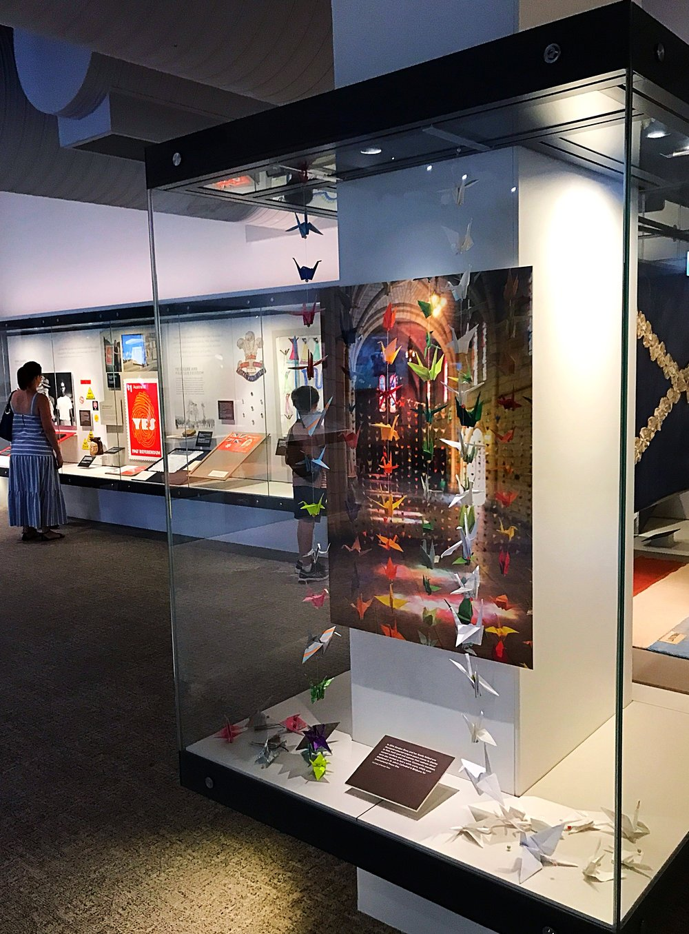 Peace Crane Project 2014 exhibit within the Anzac Legacy Gallery, Queensland Museum, Brisbane.