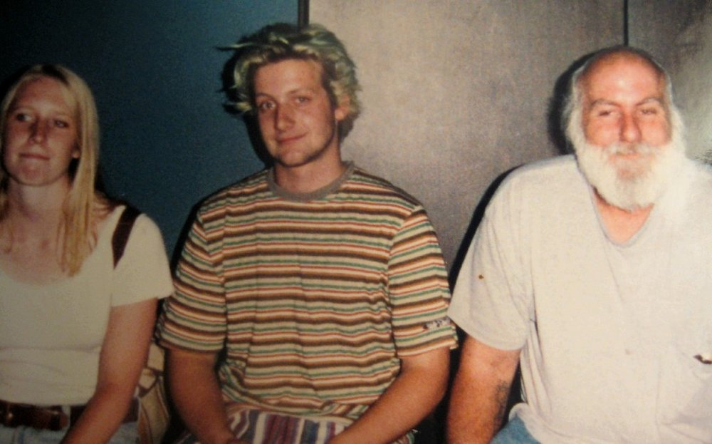 Image: Me, Tre Cool from Green Day, and his dad. One of two photos from that year. The other you can't see me for the hot pink ski suit. Apparently in 1994 I worked three crappy jobs to pay rent, buy bus fare, go to punk shows and buy second hand ski gear.
