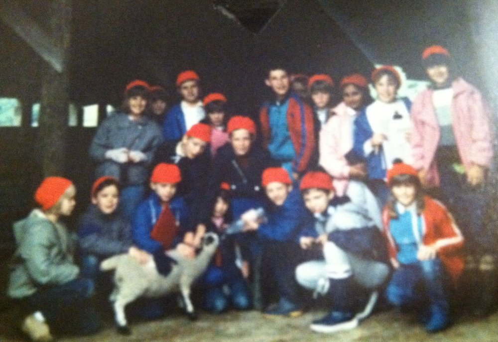 Image: Class trip that year to Wales. We all look happy despite having to wear eye-searing-red wool hats.