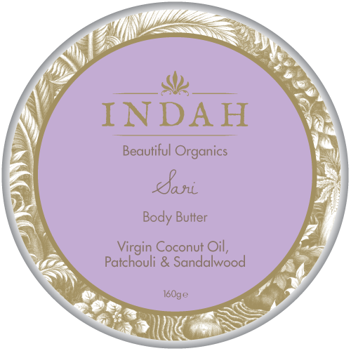 INDAH Sari Body Butter, $37 - a delicious mix of Virgin Coconut Oil, Patchouli and Australian Sandalwood. It smells beautiful and really has a calming effect on the body!