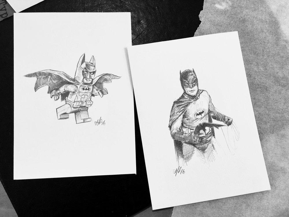 batman pencil drawings lach hamilton art
