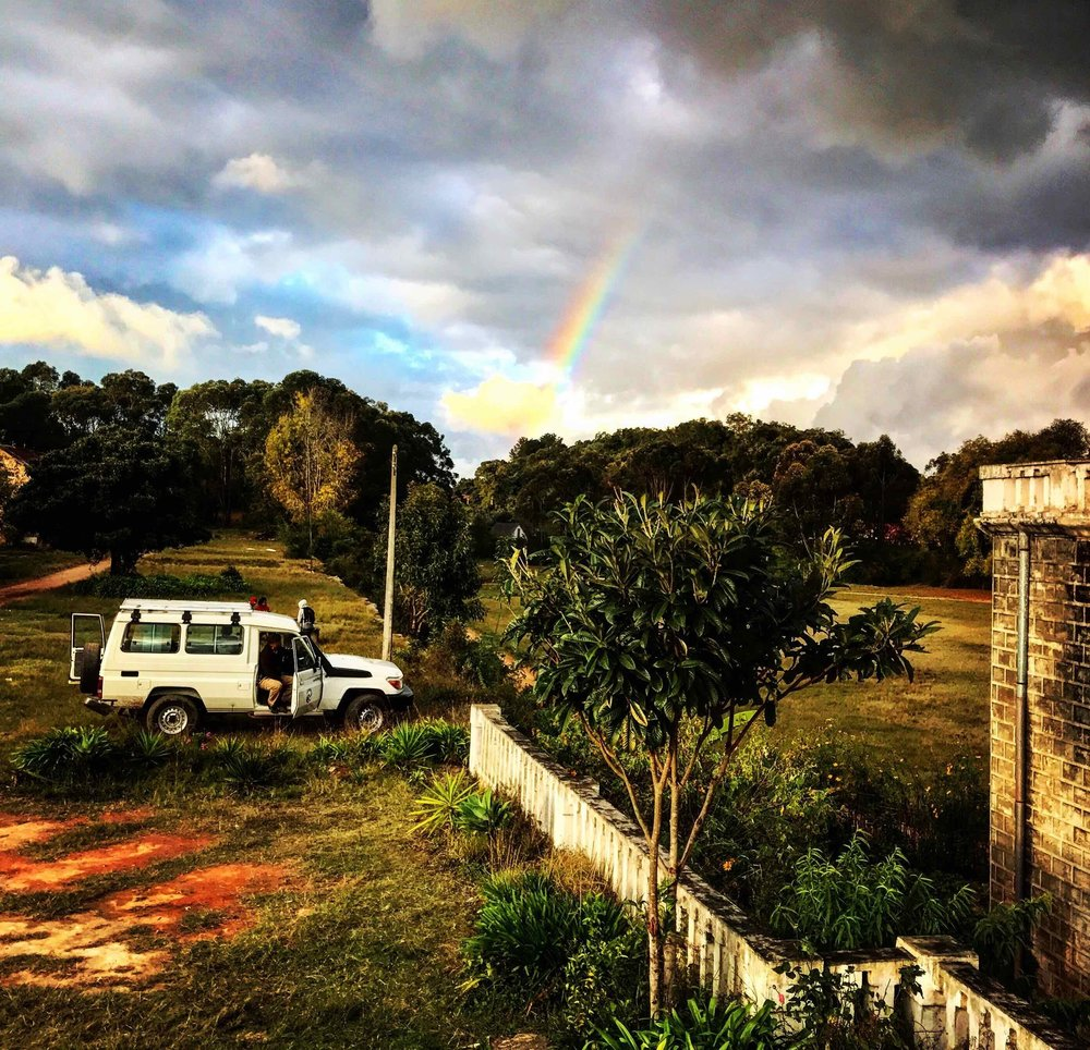 A rainbow after our first day of training at the Jean Laborde Learning Center in Montosua, Madagascar.