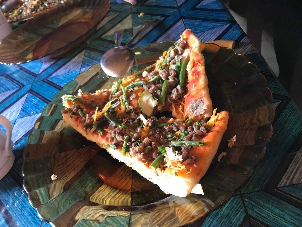 Neny Doline's Sardine Pizza. Yummy :)!