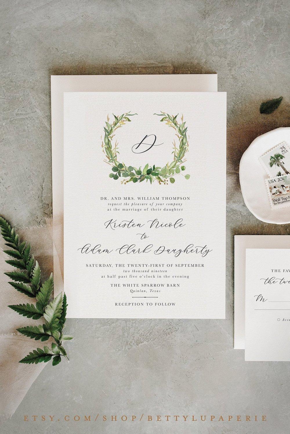Simple Greenery Wedding Invitation.jpg