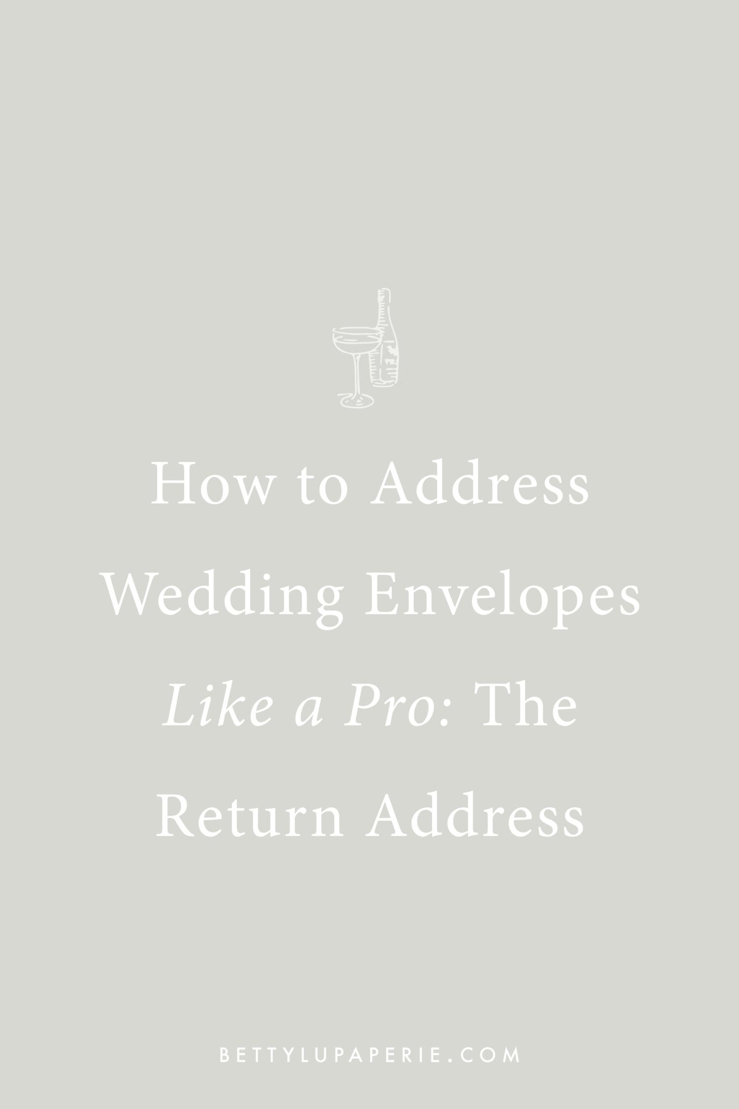 How To Address Wedding Invitations The Return Address Floral