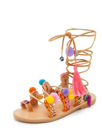 Elina Linardaki Pom Sandals - $189