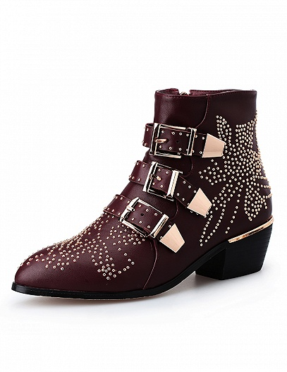 Choies Studded Booties - $129.99