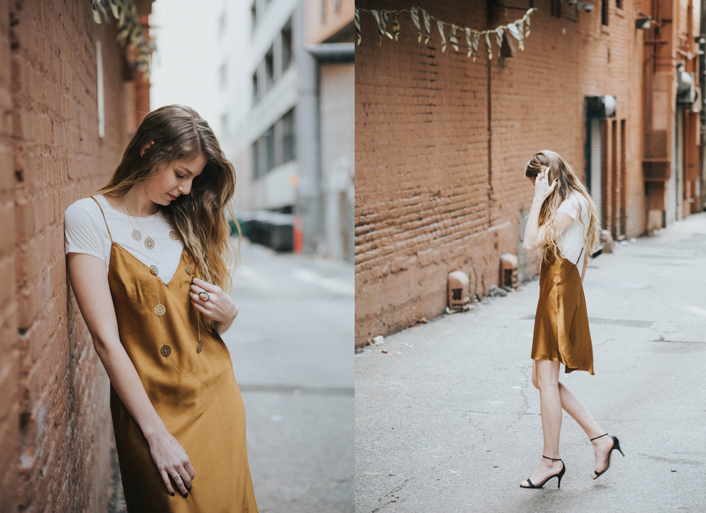 Statement slip dress