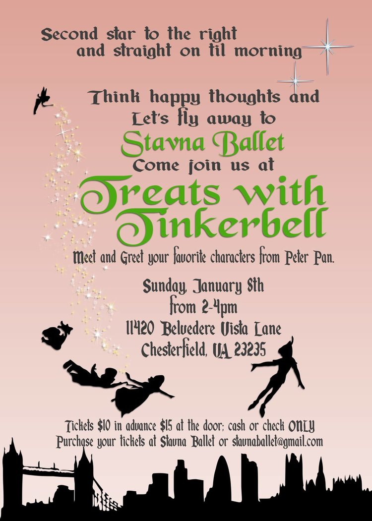 Treats With Tinkerbell Stavna Ballet