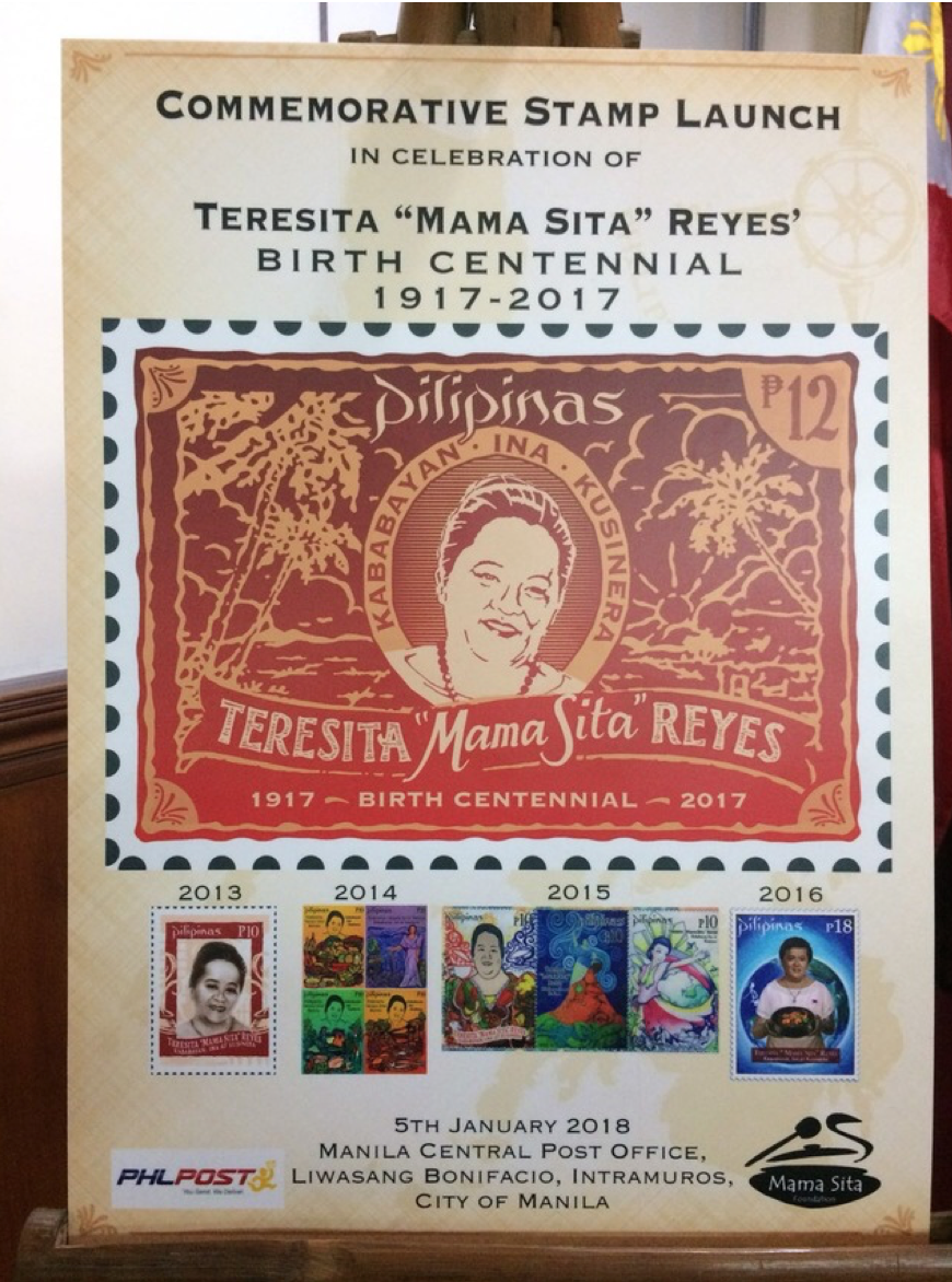 CELEBRATION. The Philpost has released limited collections of Mama Sita stamps since 2013