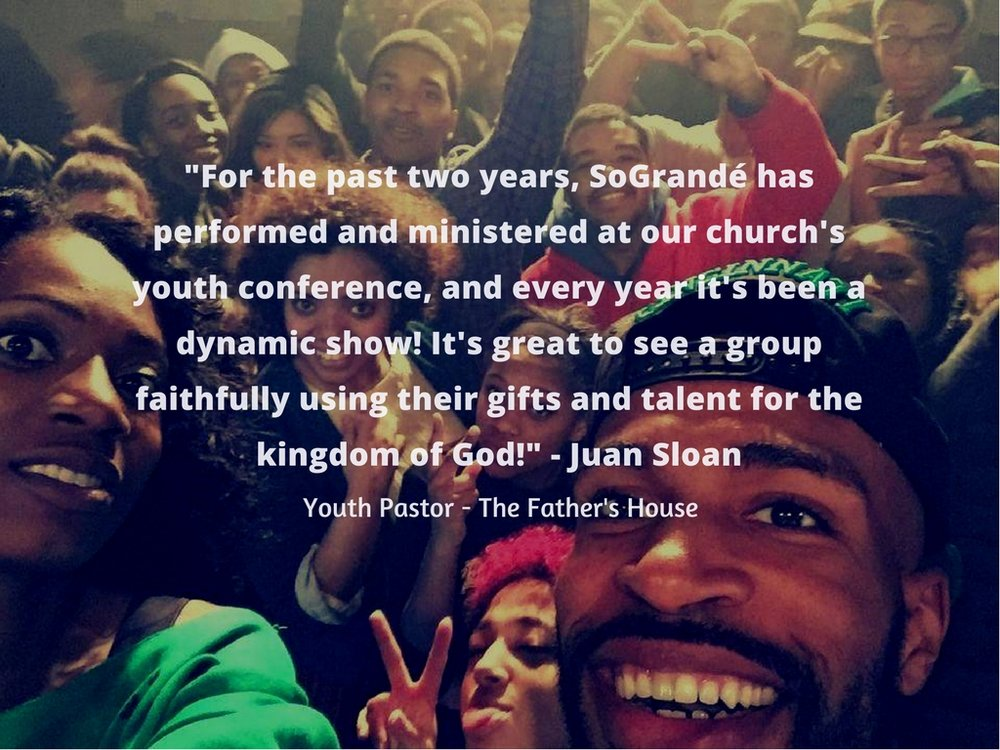 For the past two years, Sogrande has performed and ministered at our church's youth conference, and every year it's been a dynamic show. It's nice to have great music, but it's their foundation of the gospel message .jpg