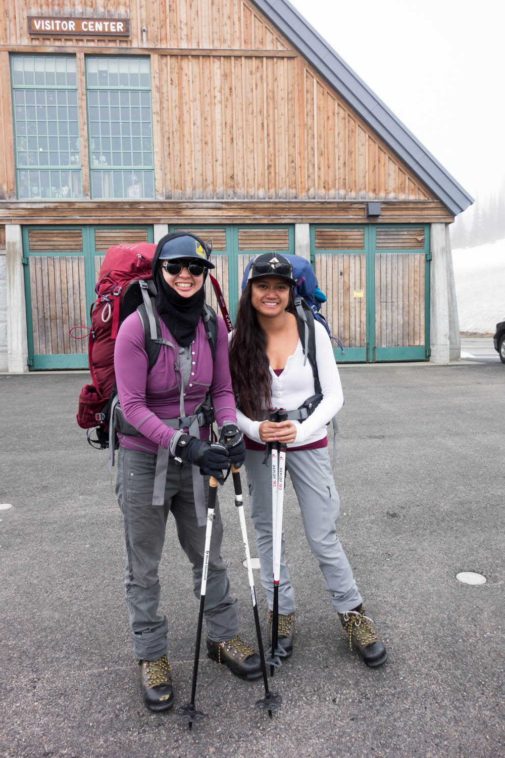 Before the first ascent to Camp Muir