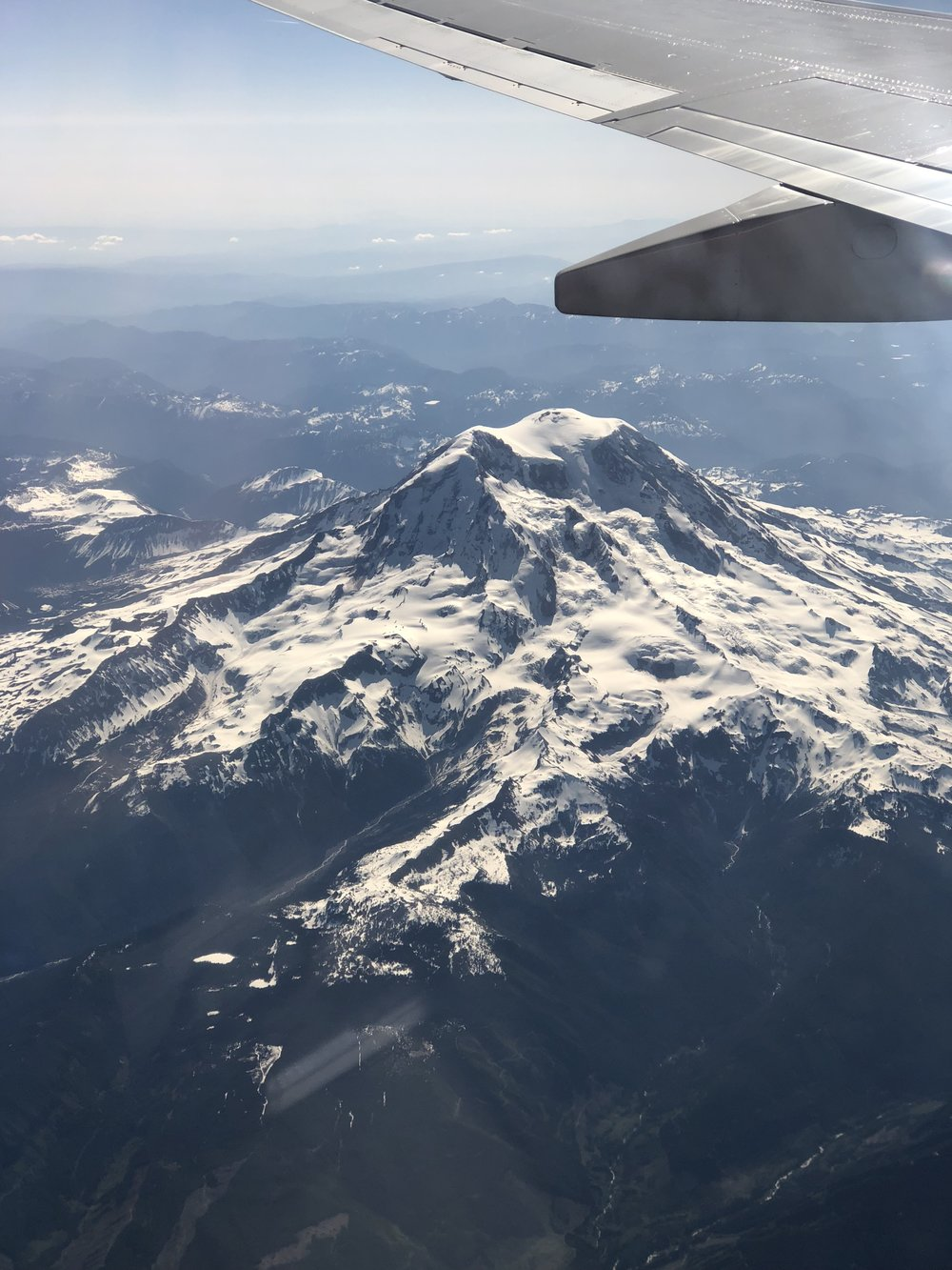 Rainier From above (Taken from the plane).