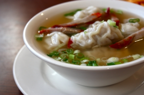 Wonton Soup with B.B.Q. Pork