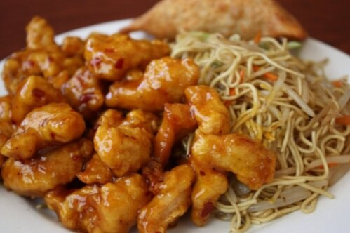 General Tao and Fried Noodles $6.99 Lunch Special