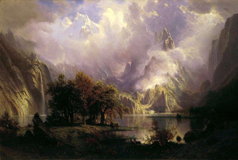 [Painting by Albert Bierstadt, 1870]