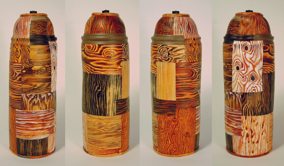 """Wooden"" Spray Can"