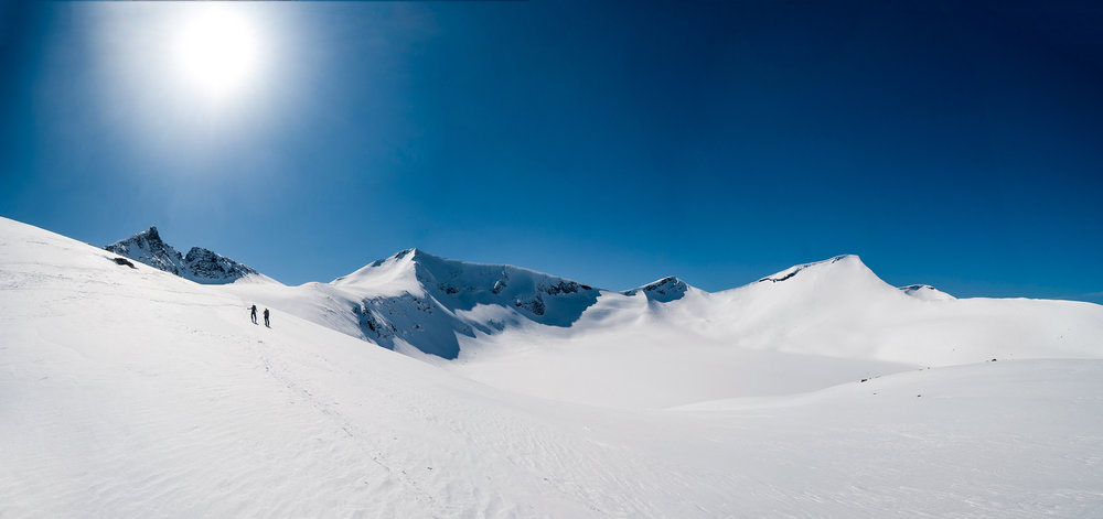A standard panorama taken on a ski trip back in 2012. Nikon D200