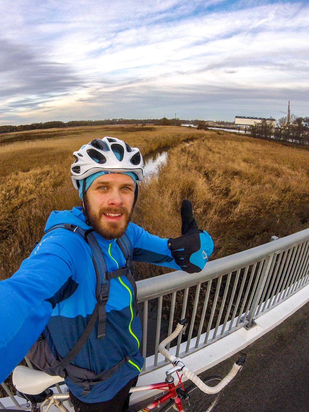 Me at the end of the long bike trip last week. GoPro Hero Sessions 4