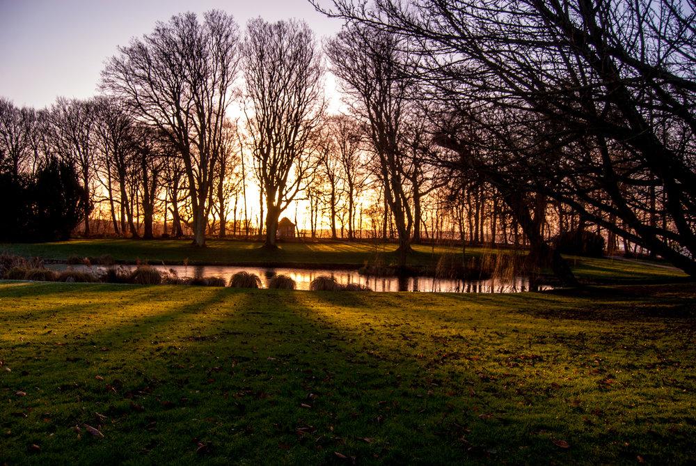 Sunset at Hindsgavl Castle. Nikon D200.