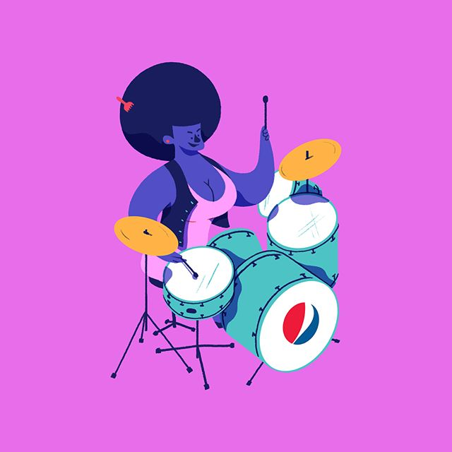 Let's groove right through the week! 🎤🎹🥁 More designs from the Pepsi Snapchat game we helped design for Tresensa.