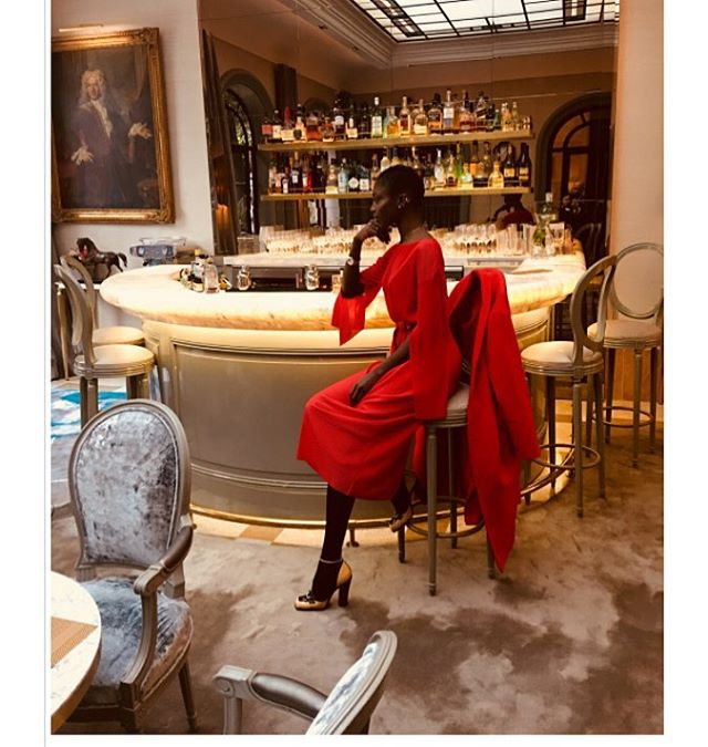 So happy to see actress and model @sonjawanda wearing our red plisse dress and red coat during promotion of the new french film Par Instinct in Paris 😘😘 #veronicabvallenes #sonjawanda #parinstinctlefilm