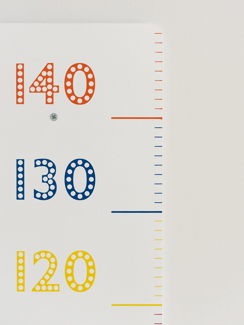 This height chart from GLTC has just the right tones to fit into most non pink bedrooms plus its fun to measure and record children as they grow