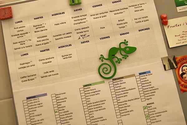 organizar menus lista compra