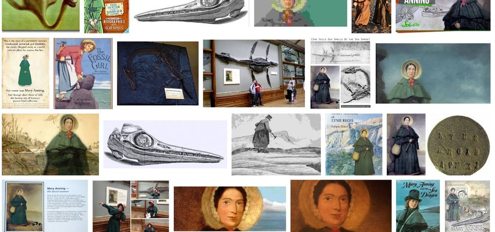 Screenshot from Google Images search for Mary Anning.