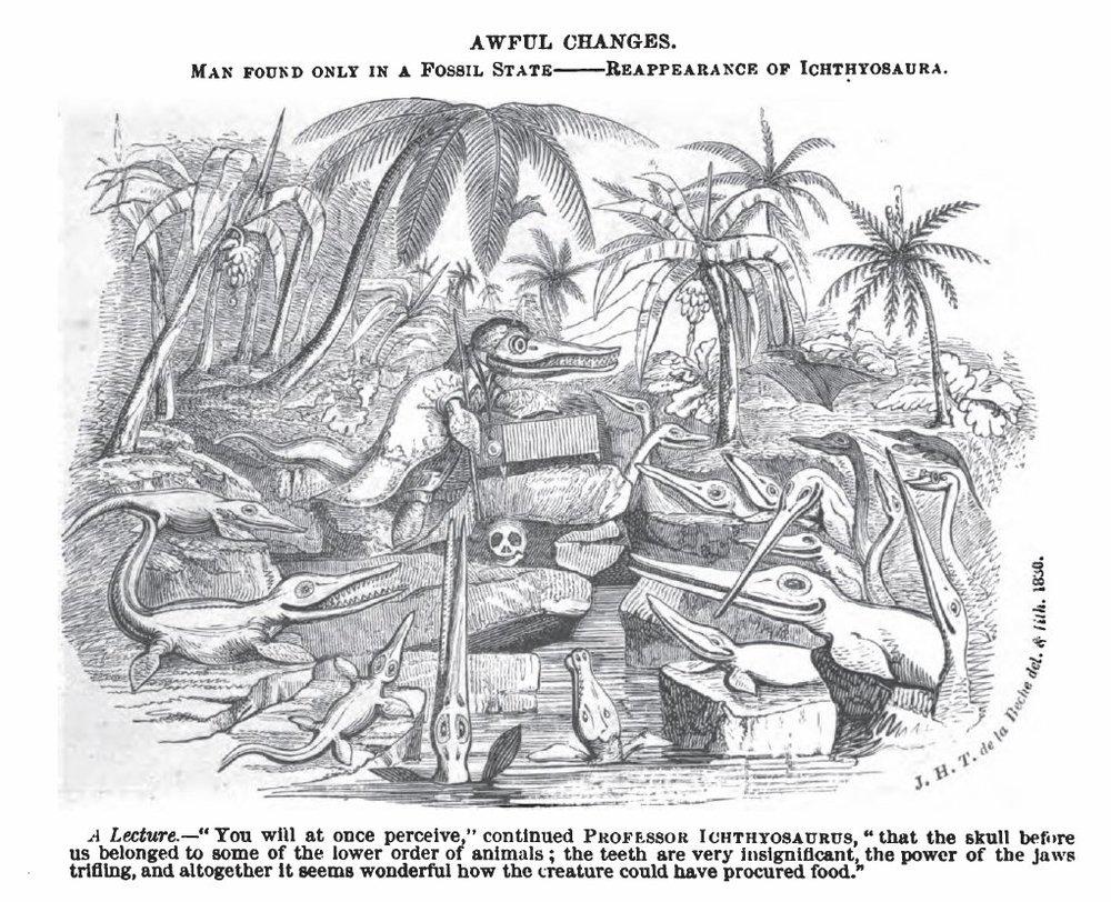Henry de la Beche,  Awful Changes  (1830)