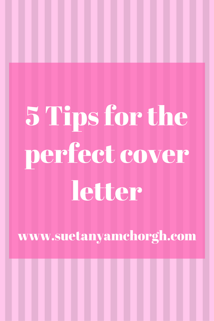 tips on writing a good cover letter