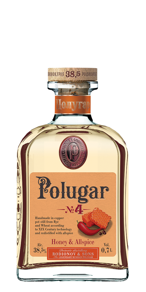 Polugar no4 honey & allspice vodka.png