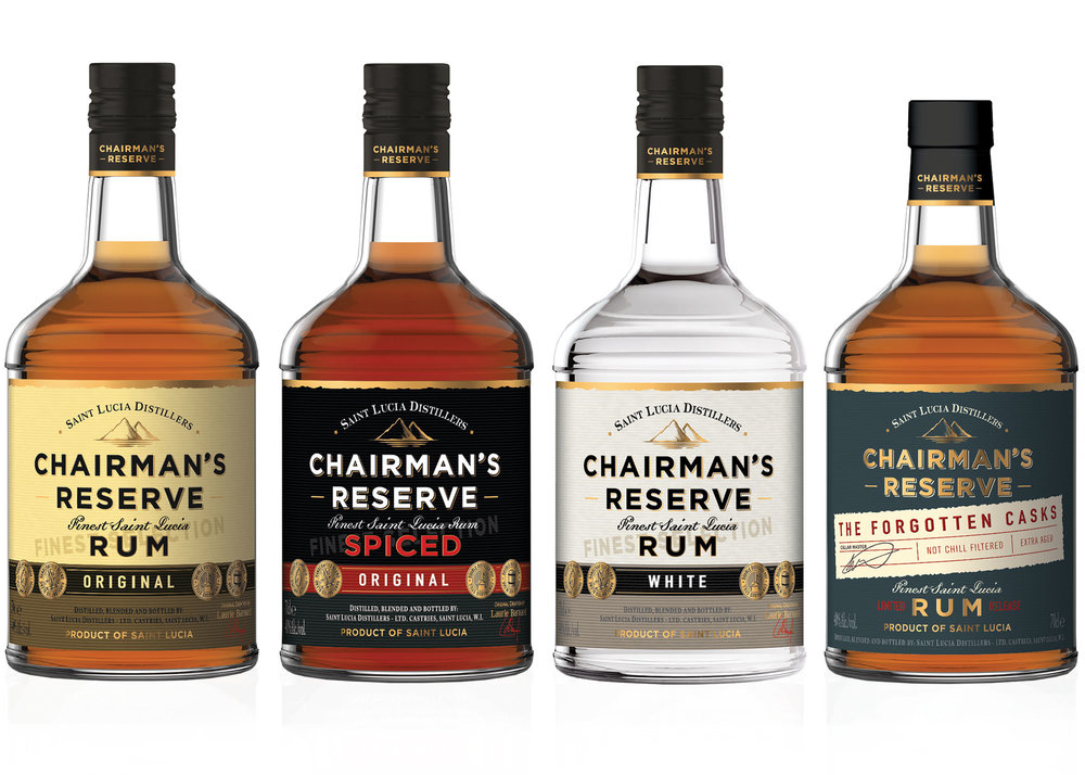 CHAIRMAN'S RESERVE RUM - Chairman's Reserve was first blended in 1999, overseen by then Chairman, Laurie Barnard at St. Lucia Distillers, as a special project to create a fine quality rum that can represent the iconic style of St. Lucian Rum. Discover the range of premium St. Lucian Rum…