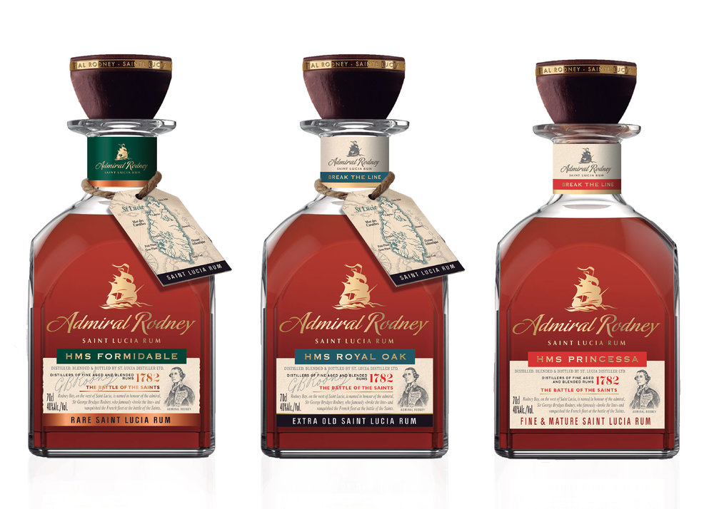 "ADMIRAL RODNEY RUM - The Admiral Rodney series of award-winning rums celebrates the famous naval battle and toasts the courage and valour of British sailors who ""broke the line"" and vanquished the French fleet."