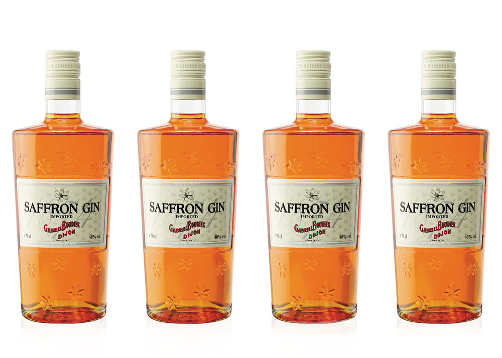 SAFFRON GIN - Saffron Gin: the name alone is an invitation to go on a journey. The recipe goes back a long way: after being re-discovered in the Maison Boudier archives, it resulted in the revival of this unique gin. From London to Pondicherry, Saffron Gin is the aperitif for festive occasions, with a promise of the exotic.