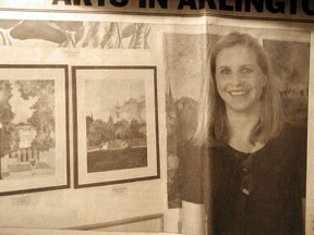 Art show at Carberry's in Arlington, Ma 2002
