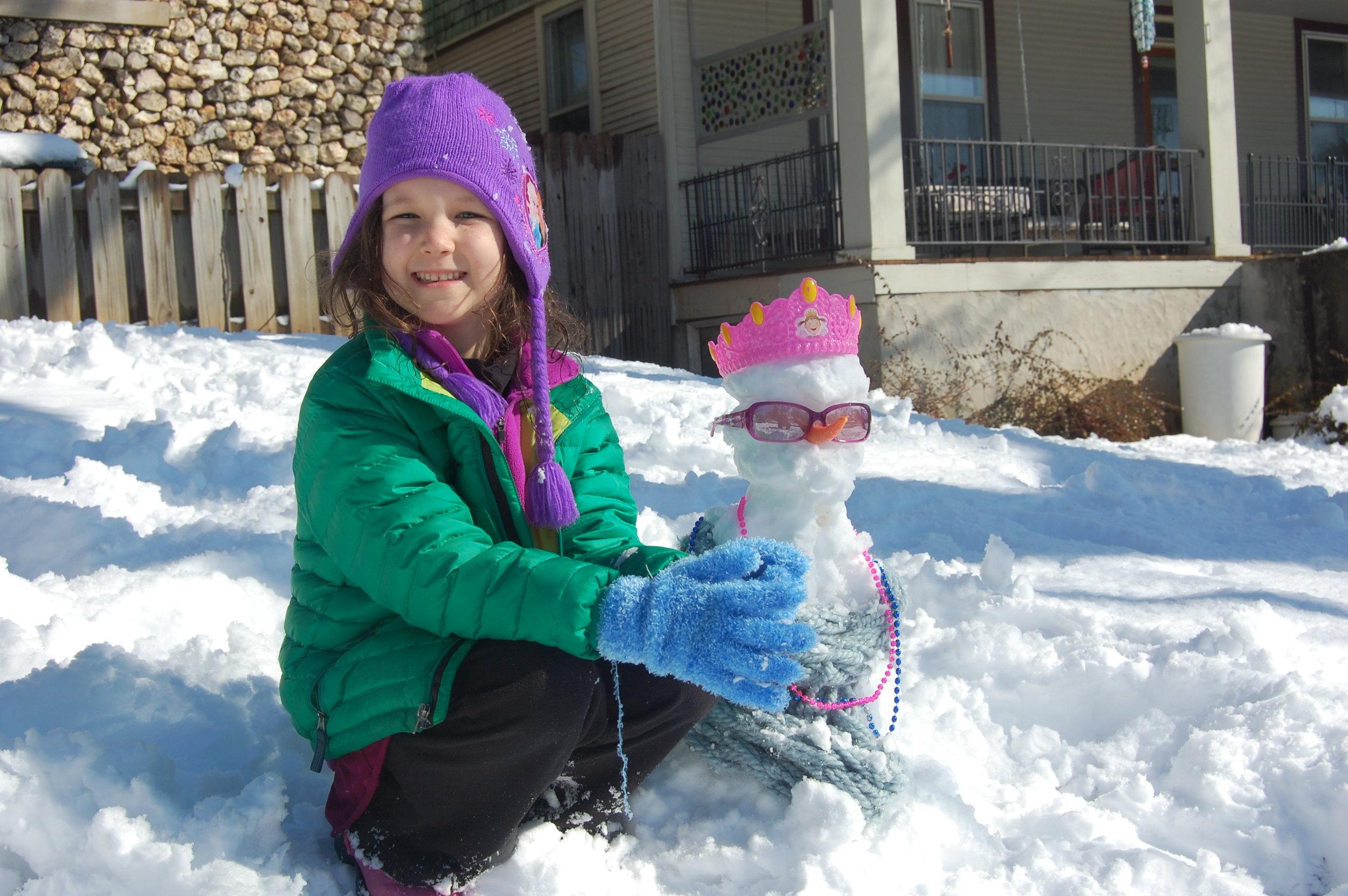 A snow-princess
